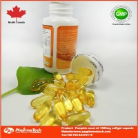 Pumpkin seed oil nutrition supplement capsule for prostate health