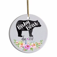 Round Ceramic Sublimation Christmas Ornaments Tree Decoration