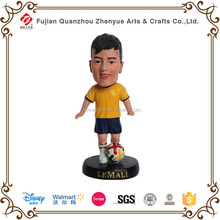 resin soccer figure bobble head