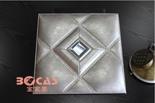 Square Ceiling Tile Shape and PVC Ceiling Tile Type 3d leather ceiling