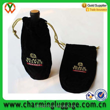 velvet drawstring gift wine bag 100/wholesale wine bottle bag