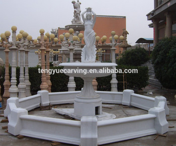 2017 hot sale garden decor marble make outdoor water fountain