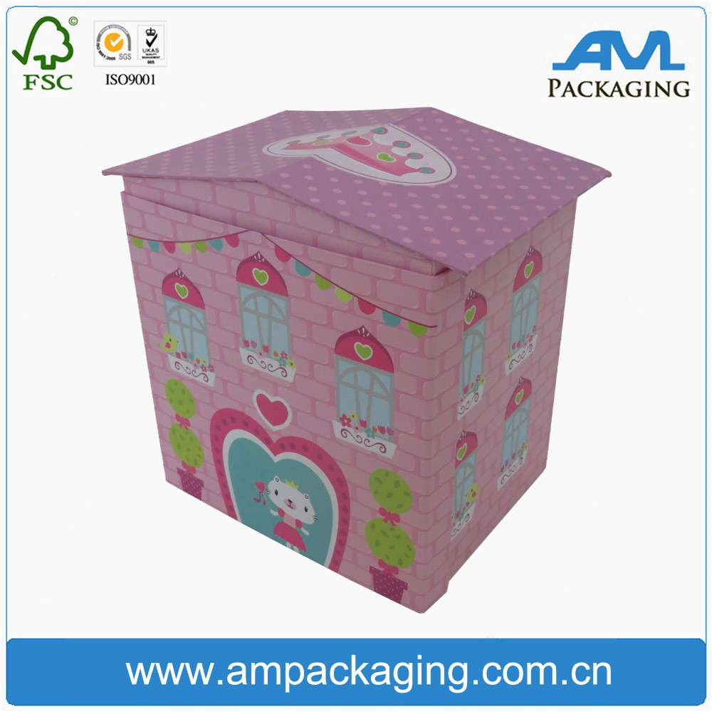 cardboard keepsake boxes for toy and book storage house shape box