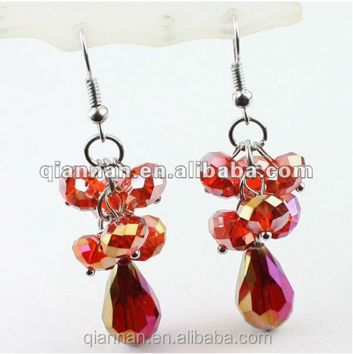 Hot wholesale 2014 fashion crystal earring with pendant