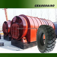 Green tech automatic recycle tire to oil machine