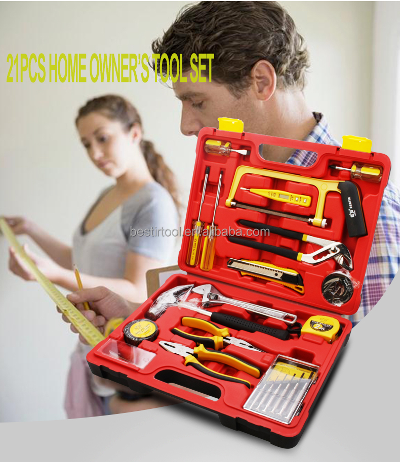 Multifunctional Tools 21pcs Home Owner's Tool Set