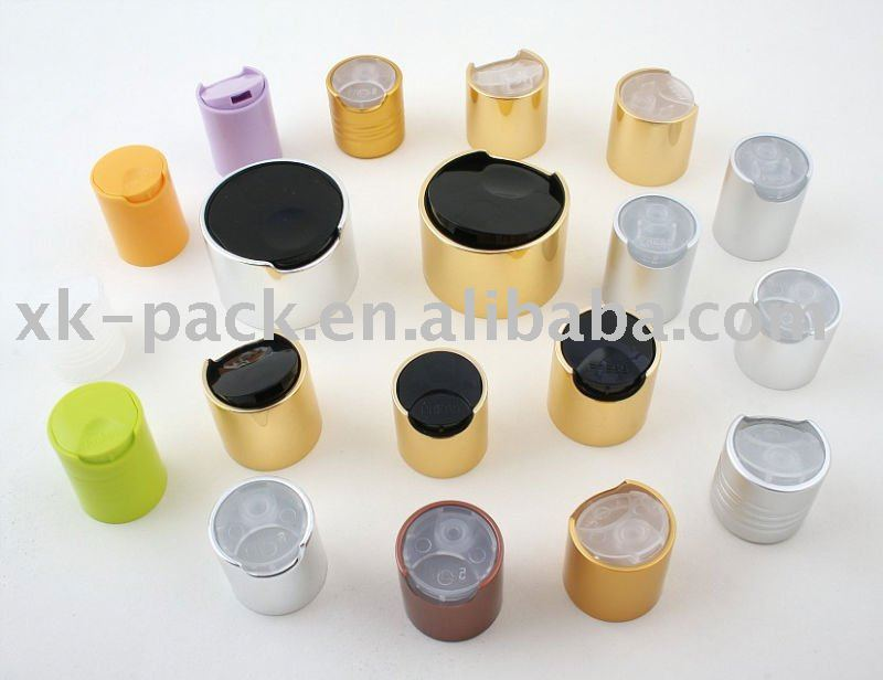 plastic flip top bottle caps and aluminium top caps
