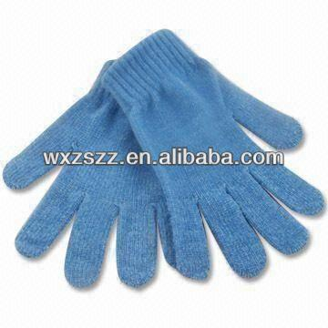 Green Knitted Lint winter disposable cotton neon couple gloves hot sale