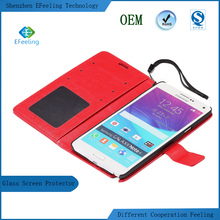 Luxury Flip Leather Wallet Stand Mobile Phone Case For Samsung Galaxy Note4