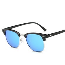 Polarized Clubmonster Classic Half Frame Semi-Rimless Sunglasses
