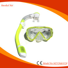 New fashionable anti-fog dive mask kids swimming gear with safty snorkel