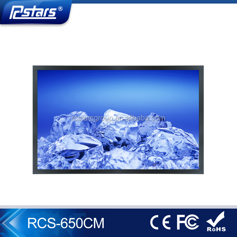Wall mounting 65 inch lcd video advertising monitor, Support 1080P video(RCS-650CM)