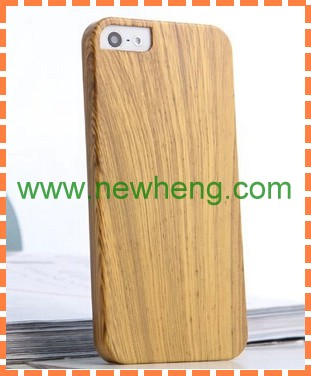 Hybrid Real Wood + Pc Hard Case For Iphone5