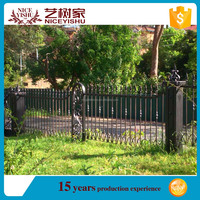 Customized new design ornamental temporary construction fen/ american used laser modern aluminum fencing for villas homes garden