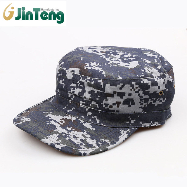 Customized Unisex Army Military Sports Outdoor Navy Blue Camouflage Cap Wholesale