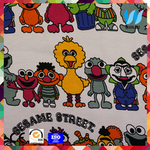 wholesale cotton knit fabric in guangzhou cartoon 100 cotton french terry knitted fabric for children's pants
