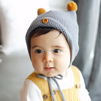 2016 New Baby Boy Girl Infant Toddler Cute Soft Crochet Hat Beanie Warm Newborn Cap Kid Christmas Gift