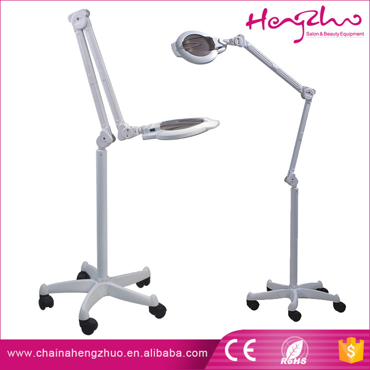 Factory price LED efficient magnifying glass lamp with high quality folding stand