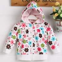 2016 Hot sale customizable hoodie jacket with lovely and beautiful printed pattern for children