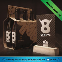 high quality cardboard 6 pack beer carrier / cardboard paper beer holder