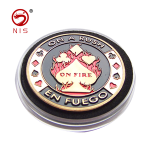 Cheap custom token gold 3d challenge metal antique coin
