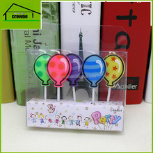 Double Colors Lollipop Desk Candy Shaped Flat Candle