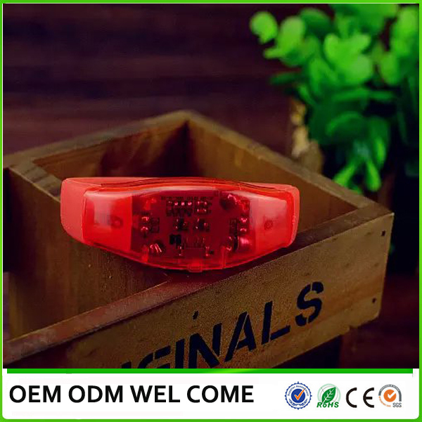 Silicon sound activated LED high quality lihgt up wrist strap