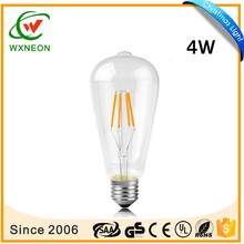 4W ST64 filament LED bulb indoor outdoor decoration