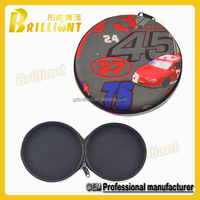 Round Factory Price Printed CD/DVD eva Box Case Wholesale