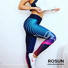 Super Hot Womens 3D Print Yoga Skinny Workout Gym Leggings Fitness Sports Cropped Pants
