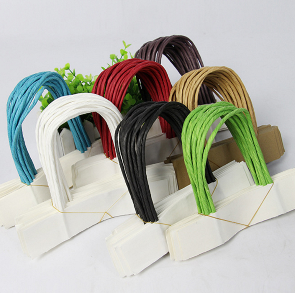New arrival fashionable twisted paper bag cord handle for gift bag
