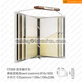 Acre shape ceramic tiles metal display stand /marble sample display stand/granite tiles display stand CF059
