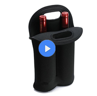 China Manufacturer Wholesale new design customized neoprene red wine bottle cooler
