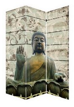 Hot selling canvas wall art traditional religion Fuzhou home decor canvas buddha room divider