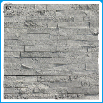 Chinese Blue Vein Marble Split Face Stack Stone Cladding For Outside Wall