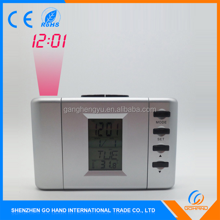 New Customized Table Snooze Alarm Electric Projection Clock