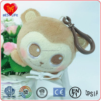 Cute small key decorations mini size stuffed plush animal shaped plush keychain toys (PTAL1608001)