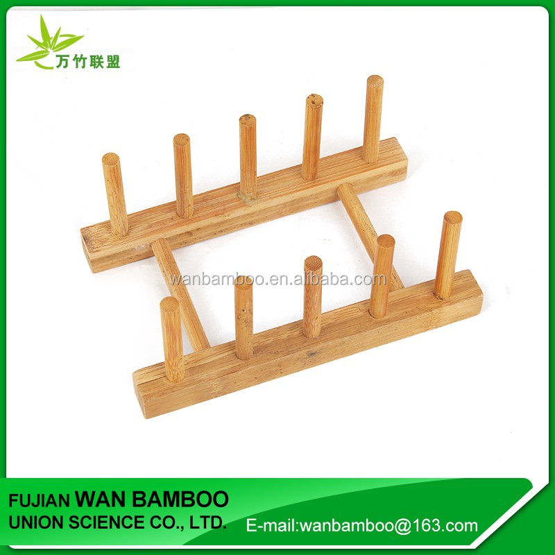 Funny Bamboo Pot Lid Holder