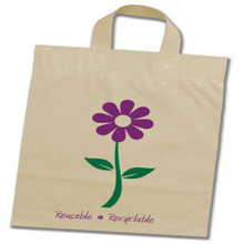 Loop Handle and Custom Printing Plastic PE Shopping Bag with Own Logo Packaging for Shopping