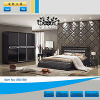 Black king size cost-effective classic bedroom set furniture
