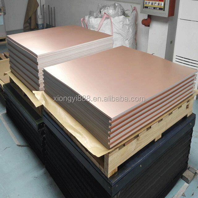 Single and double sides fr4 copper clad laminate for pcb board with competive price