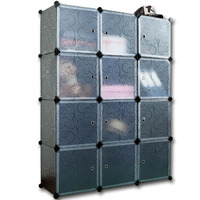 Portable creative environmental Diy closet organizer office storage cabinet FH-AL0043-12