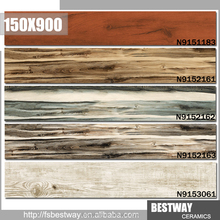 Non slip 3D inkjet ceramic tile size150x900 wood look floor tile