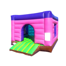 ZZPL 0.55mm PVC material kids tractor jumping castles with prices