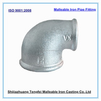 hydraulic malleable iron pipe fitting ,reducing 90 degree elbow ;cast pipe fitting,