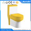 One piece siphonic ceramic human toilet