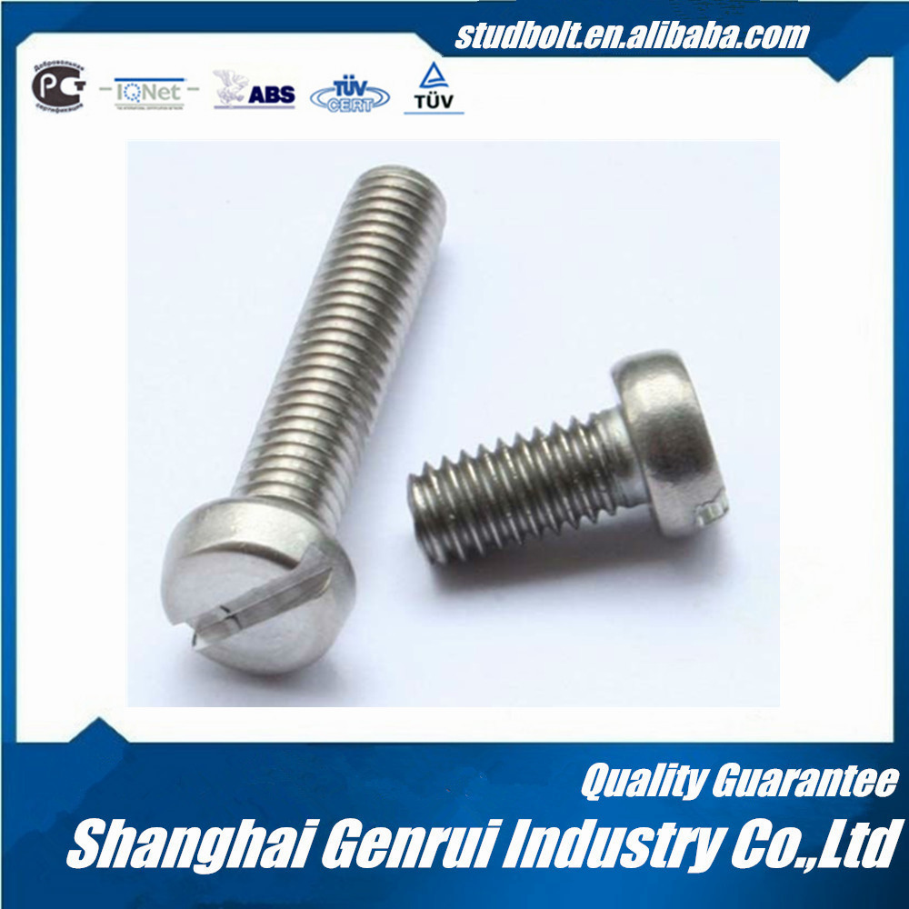 DIN84 slotted cheese head screws zinc coating