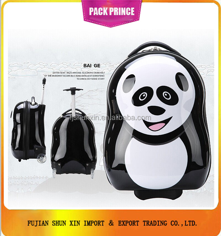 Cute panda luggage kids trolley bag alibaba china