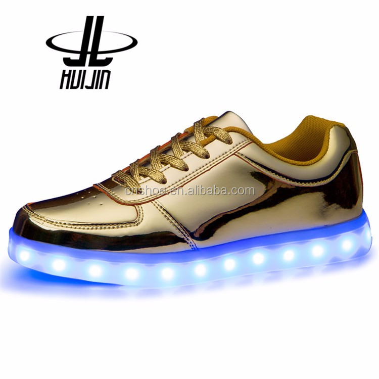 Wholesale price OEM design casual shoes women led light shoes