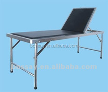 Portable hot sell stainless steel medical examination couch use in hospital and clinic